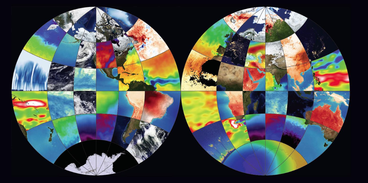 mosiac globe image